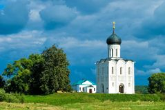 Church of the Intercession on the River Nerl Stock Image