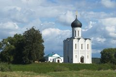 Church of the Intercession on the River Nerl. Inscribed in the Wold Heritage List of UNESCO Stock Photo