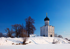 Church of the Intercession on the River Nerl Stock Photos