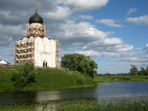 Church of the Intercession on the River Nerl. Inscribed in the W Stock Photos
