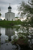 Church of the Intercession on the River Nerl. Inscribed in the W Stock Images