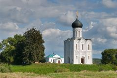 Church of Intercession on River Nerl Stock Image