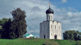 Church of Intercession on River Nerl stock video