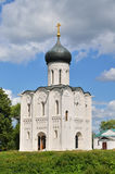Church of the Intercession on the River Nerl in summer Stock Photos