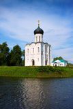 Church of the Intercession on River Nerl Stock Photos