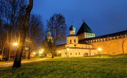 Church of the Intercession and the tower of intercession of the Novgorod Kremlin Stock Photo