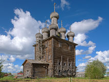 Church of Intercession in the village Rikasovo, Russia Stock Photos
