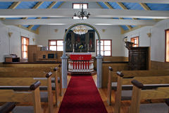 Church interior. Interior of the icelandich church - Horizontal royalty free stock photo