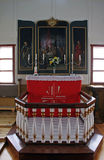 Church interior. Interior of the icelandich church - vertical royalty free stock photography