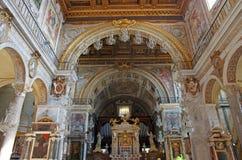 Church interior. (Santa Maria in Aracoeli) in Rome Stock Image