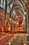 Church interior. Gothic church interior with organ hdr Stock Images