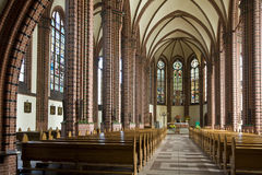 Church interior. Gothic church interior in poland Royalty Free Stock Photos