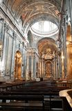 Church interior. Interior of the Estrela Basilica in Lisbon, Portugal Royalty Free Stock Images