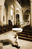 Church interior. Interior of an old church in Italy; Manarola - Cinque Terre Royalty Free Stock Photography