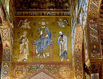 Church interior 4. Interior of Capella Palantina in Palermo. Sicily, Italy Royalty Free Stock Images
