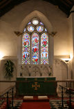 Church Interior. Interior of old chapel __ long exposure due to low available light Royalty Free Stock Image