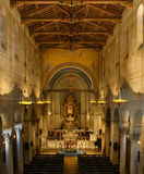 Church interior. Grand view of interior of cathedral Stock Images