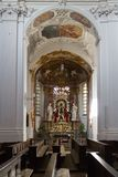 Church interior with altar royalty free stock image