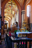 Church interior. The Archcathedral Basilica of the Assumption of the Blessed Virgin Mary and Saint Andrew in Frombork, Poland Stock Images