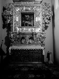 Church interior. Artistic look in black and white. Stock Photography