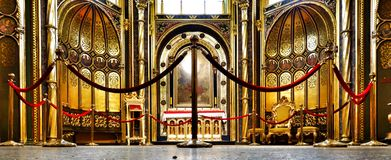 Church interior. Artistic look in vintage vivid colours. Stock Photography