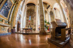 Church interior at Assisi, Italy Royalty Free Stock Photos