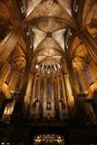 Church interior, Barcelona, Spain Stock Photo