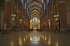 Church interior in Bologna Italy Stock Photography