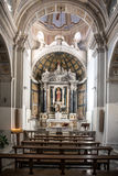 Church interior in Bosa, Sardinia Royalty Free Stock Photography