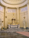 Church interior in Brussels. Interior of church in Brussels, Belgium, center Royalty Free Stock Images