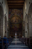 Church interior in Cagliari, Sardinia Royalty Free Stock Images