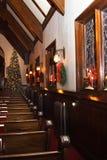 Church interior with christmas decor Stock Photography