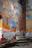 Church interior. Church of Saint Nicolas in Yaroslavl, Russia. Royalty Free Stock Photo