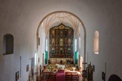 Church Interior in Convent of San Bernardino de Siena - Valladolid, Yucatan, Mexico royalty free stock photo