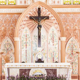 Church interior. With the detail stock photography