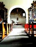 Church interior. Detail of a church interior stock photos