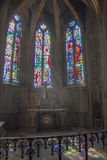 Church Interior in Dinan, Brittany, France Royalty Free Stock Photography