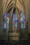 Church Interior in Dinan, Brittany, France Stock Photos