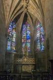 Church Interior in Dinan, Brittany, France Stock Photos