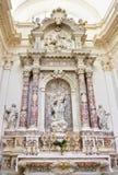 Church interior at Dubrovnik in Croatia Stock Photos