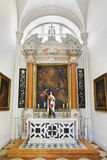 Church interior at Dubrovnik in Croatia Royalty Free Stock Photography