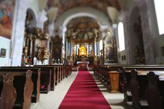 Church interior in Europe Royalty Free Stock Images
