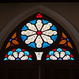 Church interior. Glass with the detail stock photo