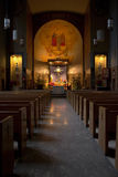 A church interior at the Grotto, Portland Oregon. Royalty Free Stock Images