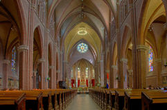 Church Interior in HDR Royalty Free Stock Photography
