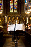 Church interior - holly book Stock Photos