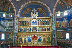 Church interior - iconostasis Stock Image