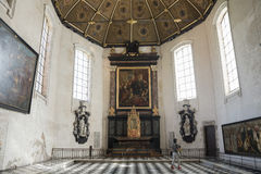 Church interior in Lille Stock Images