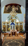Church interior in the Monastery. Ukraine. Stock Image