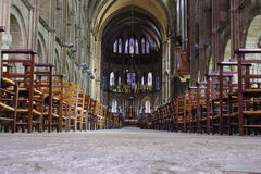 In the Church. In the interior of the Notre Dame Church in Reims (France Royalty Free Stock Photos